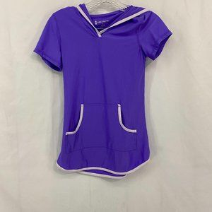 Free Country Hooded Swim Coverup Purple